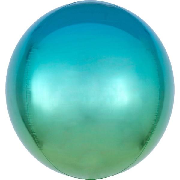 Ombré foil balloon blue-green 40cm
