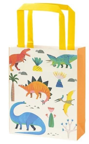 8 toreb papierowych Dino Family 15,5 x 28 cm