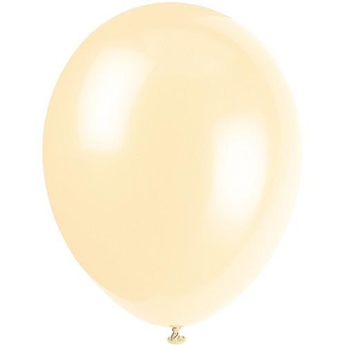 10 Latexballons Metallic Elfenbein 33cm