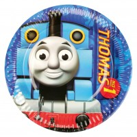 8 Pappteller Partytime Thomas+Friends 18cm