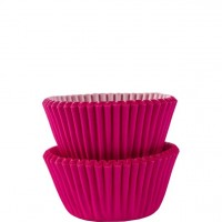 100 Pinke Mini Muffinförmchen 3cm