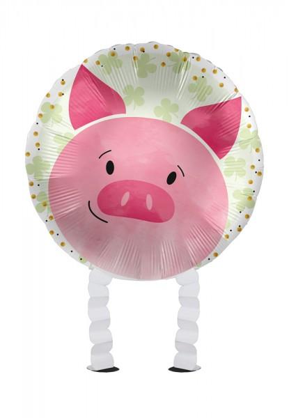 Glücksschwein Airwalker Folienballon 43cm