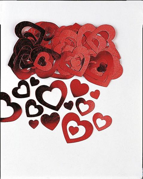 14g Romantische Herz Streudeko Rot