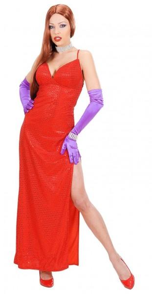 Vestito rosso con paillettes per signore