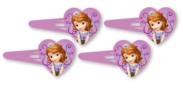 Disney Prinzessin Sofia Die Erste Niedliche Herz Haarspangen 4 Stück