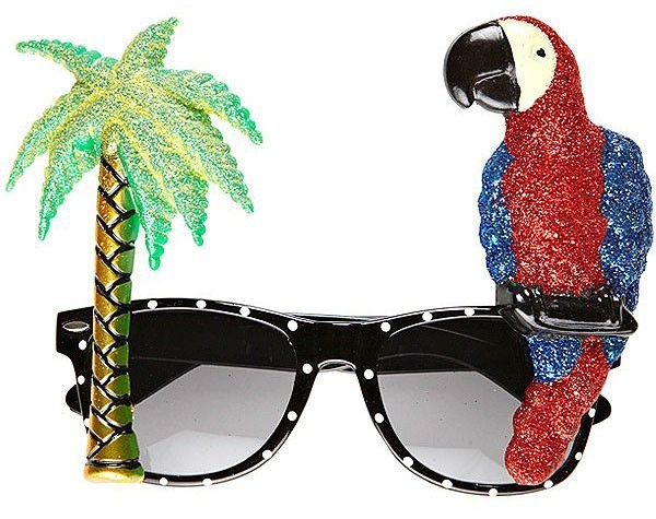 Pappagallo occhiali festa di vacanza