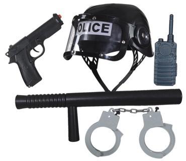 Polizei Set für Erwachsene 5-teilig