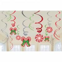 12 Sweet Christmas Spiralhänger 61cm