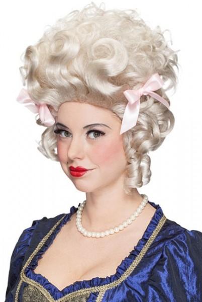 Prachtvolle Damen Renaissance Perücke Weiß