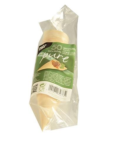 50 sacchetti snack in legno Fidelio 4,5 x 8,5cm