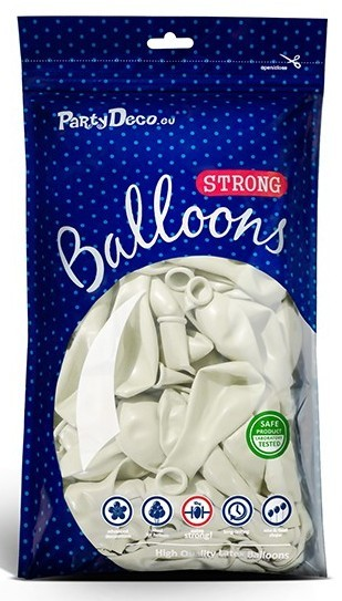 50 party star balloons white 30cm