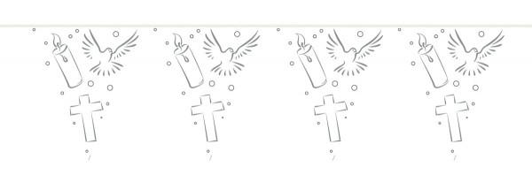Banderín cadena símbolos cristianos 10m