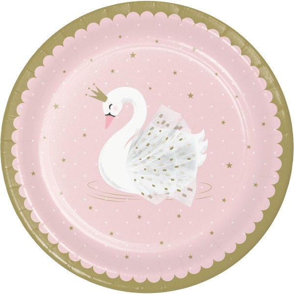 8 Royal Swan Pappteller 23cm