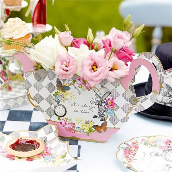 Alice Tea Party Teekannen Aufsteller 13cm