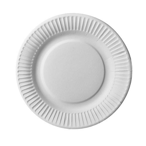 25 assiettes en papier FSC Scarlatti blanc 19cm