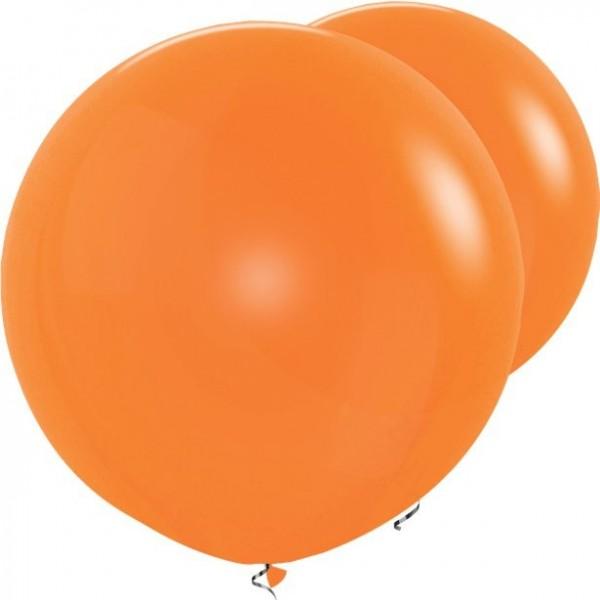 2 Orangefarbene XL Luftballons 91cm