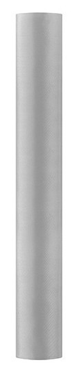 Satin Stoff Eloise silber 9m x 36cm