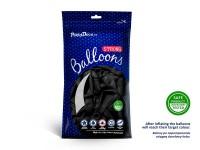 100 Partystar Luftballons schwarz 23cm