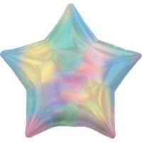 Holografischer Pastell Sternballon 45cm