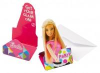 8 Barbie Fashionista Einladungskarten