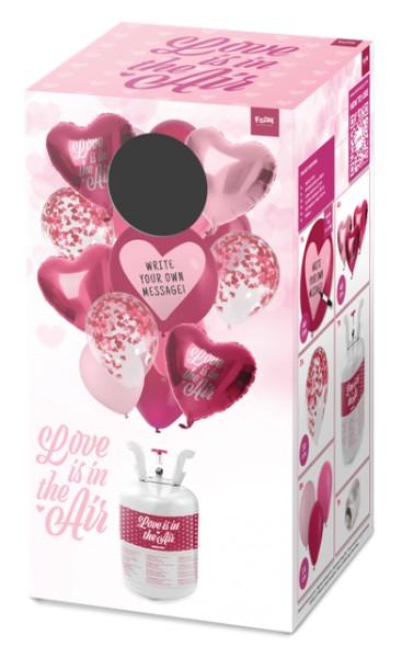 Valentinstag Heliumflasche mit Ballons 3