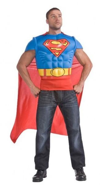 Supermans Muskel-Shirt Herrenkostüm