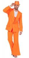 70er Jahre Party Anzug Orange