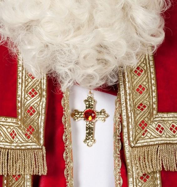 Kreuzkette Gold Mit Edlem Stein