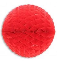 Roter Papier Wabenball 33cm