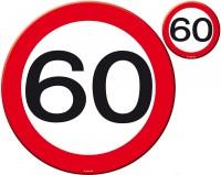 Verkehrsschild 60 Tischset 8-teilig