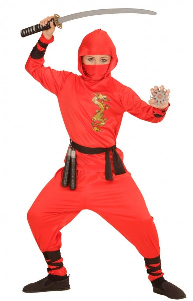 Costume combattiero Ninja rosso