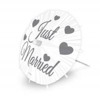 8 Just Married Schirmchen