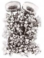 Silbernes Rosetten & Geschenkband Set