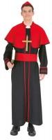 Kardinal Bischof Kostüm Schwarz-Rot