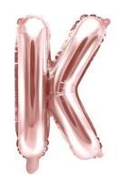 Folienballon K roségold 35cm