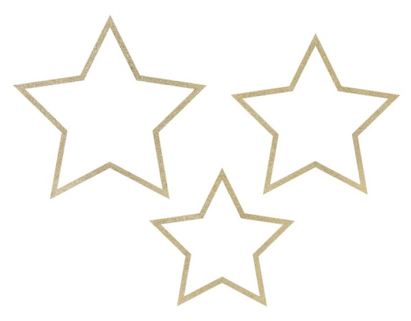 3 star pendant with glitter