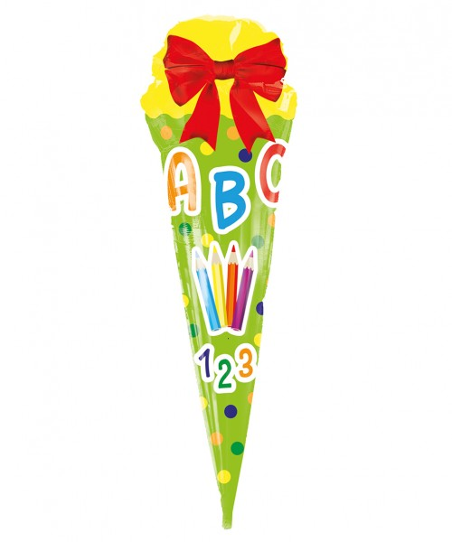 XXL folieballon kleurrijke schooltas 43 x 105cm