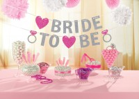 Glitzernde Bride To Be Girlande Bachelorette Party