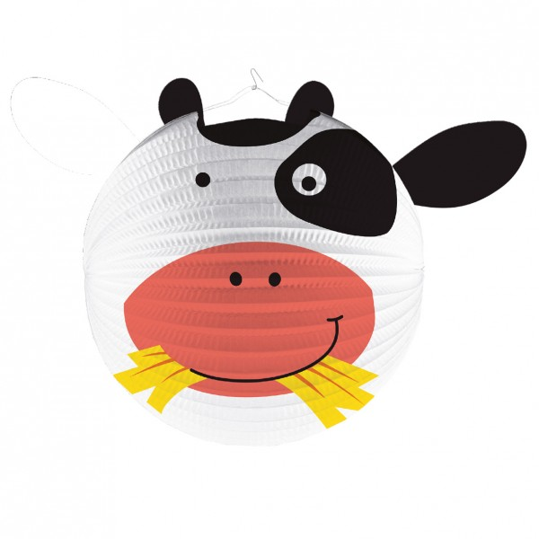 Adorable animaux de la ferme lanterne vache Frieda