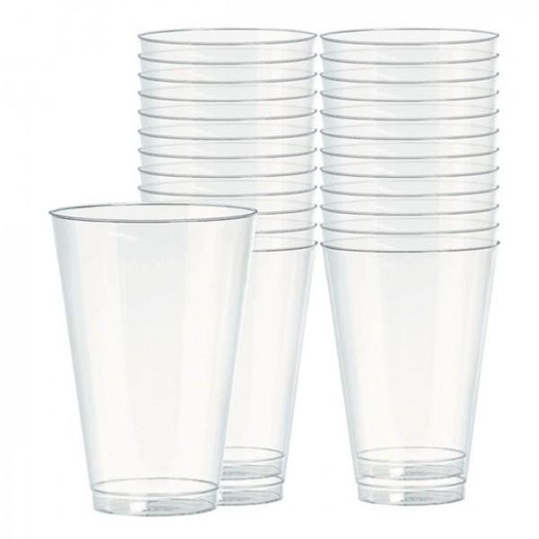 72 Transparente Kunststoff Gläser 295ml