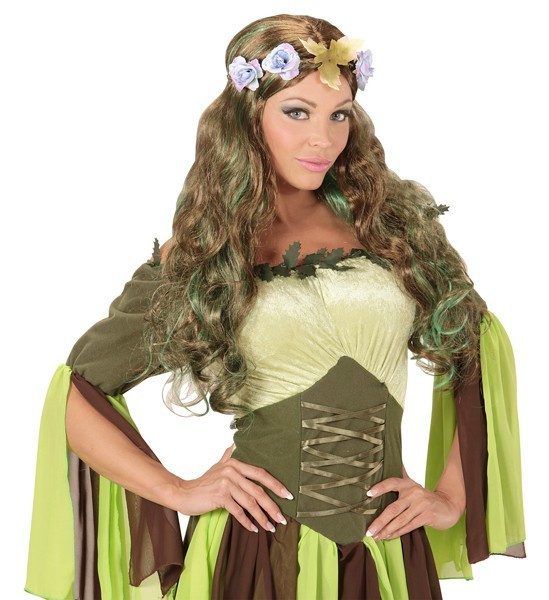 Perruque elfique verte