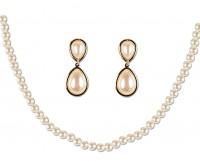 Glänzendes Perlen Schmuck Set