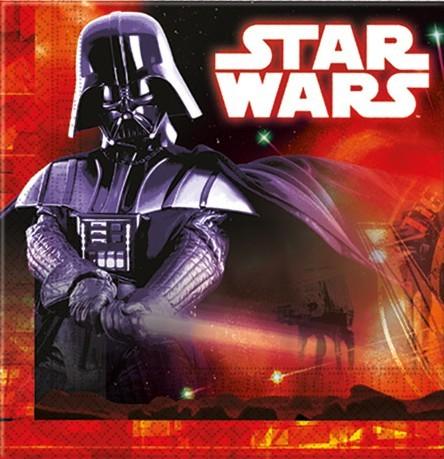 20 Star Wars Dark Side Servietten 33cm