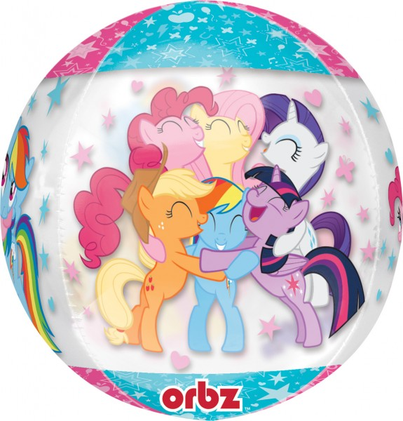 Balon w kształcie kuli, ujmujący stadko My Little Pony