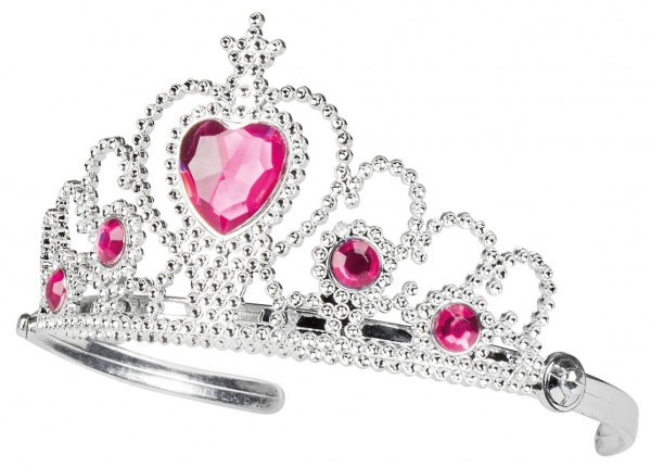 Silberne Kinder Prinzessin Krone