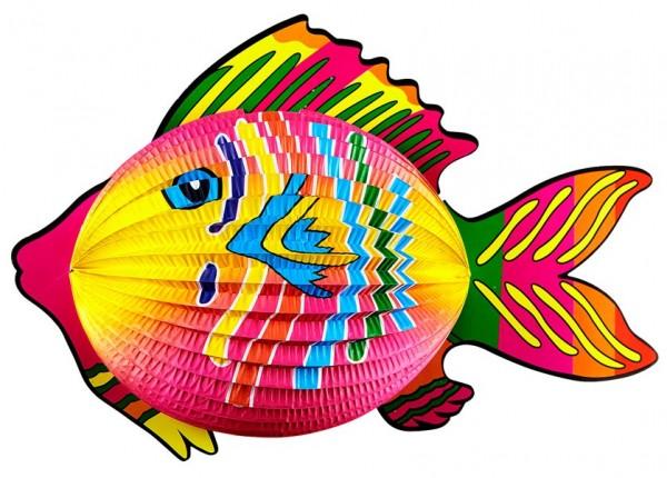 Lanterne poisson colorée 40cm
