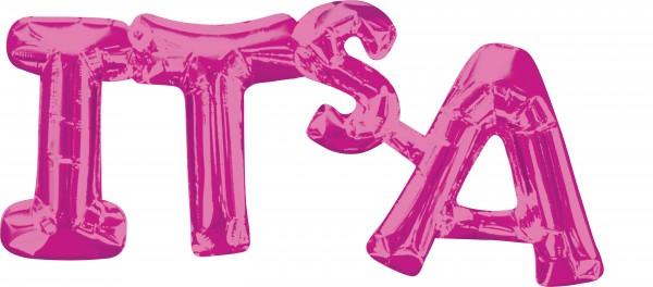 Its a Folienballon Pink 50 x22cm