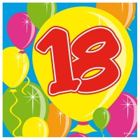 20 Spectacular 18th Birthday Servietten 25cm