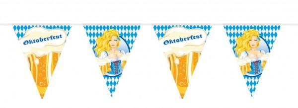 Chaîne de fanion Oktoberfest Bier Liesl 10m