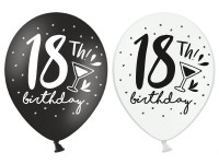 6 My 18th Birthday Luftballons 30cm
